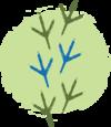 O logo da Peabiru é representado por um círculo verde claro, acima do círculo tem uma ilustração rústica de 3 pares de patinhas de uma galinha d´Angola, alinhados verticalmente. As patinhas da extremidade são de cor verde musgo e as do centro são de um tom azul cobalto e representam a individualidade do viajante. As patas de uma ave representam os valores do turismo responsável e sustentável. O círculo verde remete ao caminho amassado, significado da palavra Peabiru.